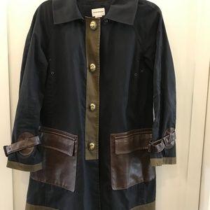 Club Monaco Rain Jacket with Leather Detail